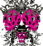 Kaos Skull Flower skull with flowers and syringe vector t shirt