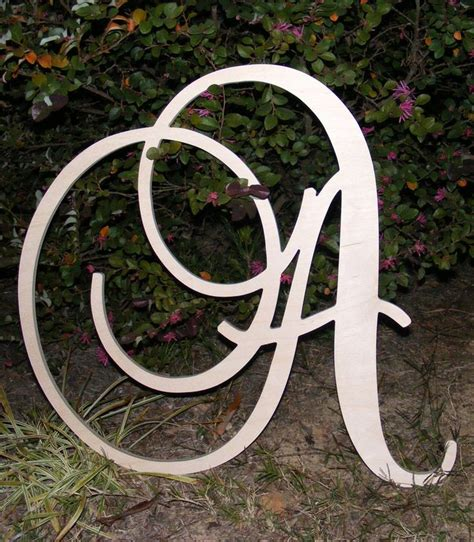 large decorative letters for walls 24 quot large wooden wall letters monogram letters wedding