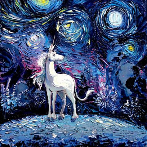 painting unicorn artist s painting gets mistaken for a gogh so she