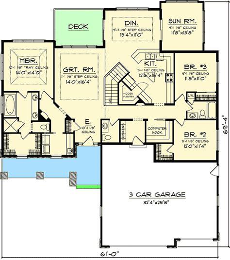 sunroom floor plans ranch home floor plans with sunroom
