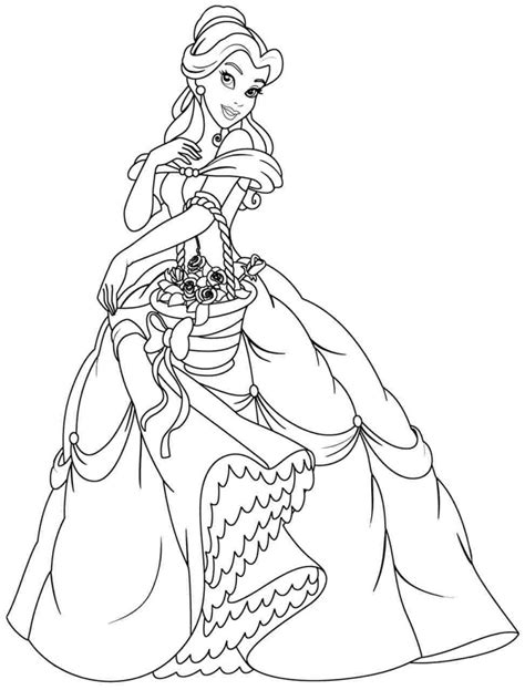 random princess coloring pages belle coloring page colouring pages free printable disney