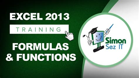 excel 2013 interactive tutorial microsoft excel 2013 training formulas and functions