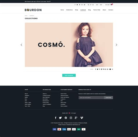 shopify themes lookbook bourdon responsive kids clothing shopify template