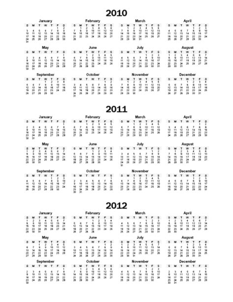 printable three year calendar 3 year calendar printable new calendar template site