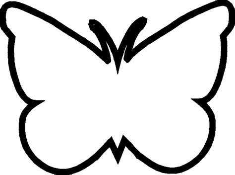 flying butterfly outline clipart clipartsgram com