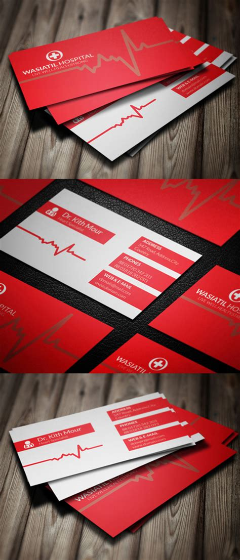 doctor business card template psd corporate business card psd templates design graphic
