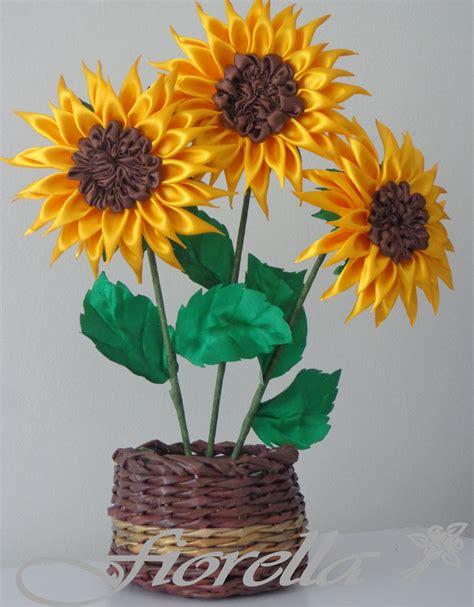 girasoles moldes de flores para hacer arreglos florales en fiorella flores en tela video tutorial 12 girasoles en raso