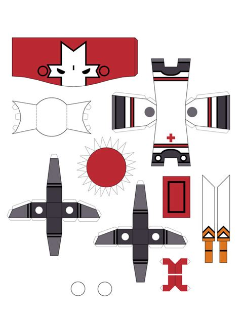 Papercraft Castle - castle crashers paper craft elijah will it