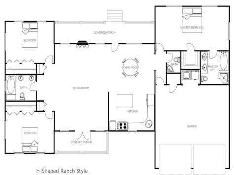house plan h shaped plans escortsea ranch dalneigh 30 709 house plans u shaped ranch 2017 house plans and home