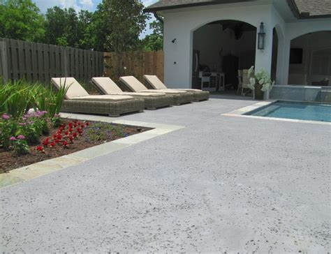 Home Design And Remodeling Show Miami stamped concrete pool deck outdoor living salt rock