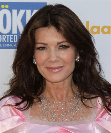 linda vanserpump hair lisa vanderpump long wavy casual hairstyle dark brunette