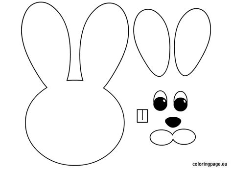 Easter Bunny Paper Craft Easter Crafts Pinterest Free Printable Coloring Pages And Crafts