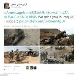 Here are the tweets isis has been directing at americans over the past