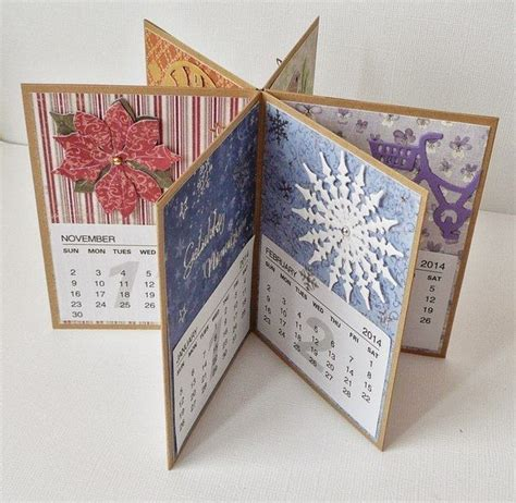 Handmade Calendars - handmade calendar beautiful paper creations