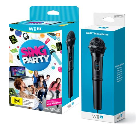 Wii U Voice Bundle With Microphone sing bundle with bonus microphone for wii u the gamesmen