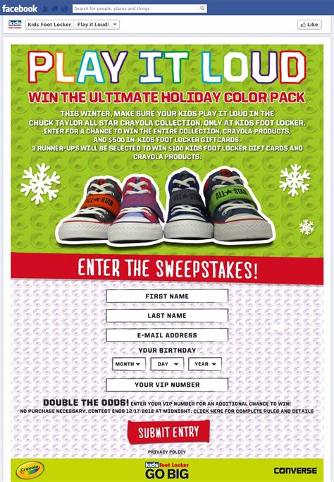 Where Can I Use A Footlocker Gift Card - kids foot locker play it out loud sweepstakes 25 giveaway two winners two of a