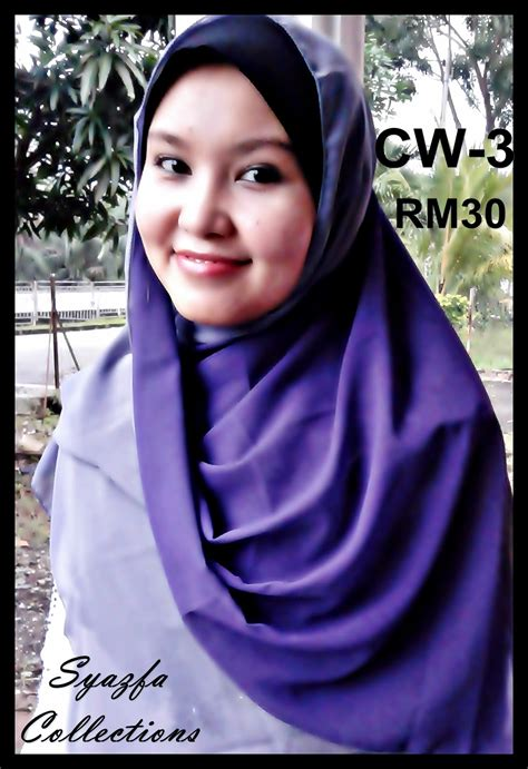 2 Warna S syazfamuslimahcollections shawl chiffon 2 warna
