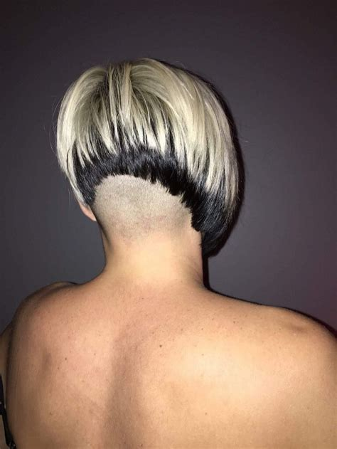bob haircut with shaved nape part 23 best hairstyles images on pinterest bobs dyed hair