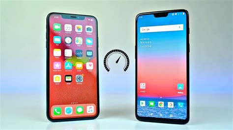 iphone xs max vs oneplus 6 speed test