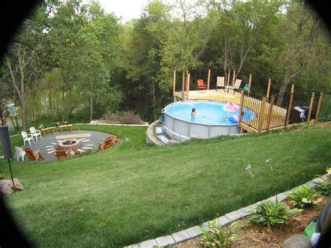 sloped backyard pool print page steep hill how do you manage moving your
