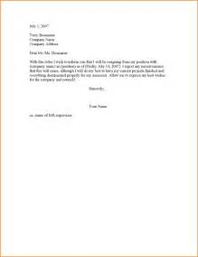 1 Week Notice Resignation Letter by 2 Weeks Notice Resignation Letter Basic Appication Letter
