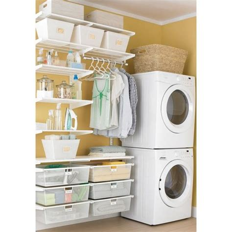 white elfa laundry room laundry closet dryers and small