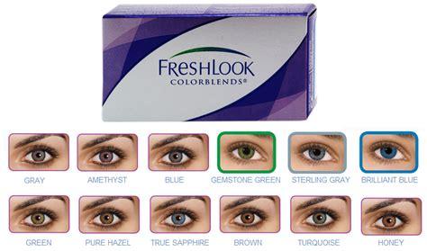 Softlens Freshlook Colorblends Hazel Flcb jual freshlook colorblends color softlens warna monthly