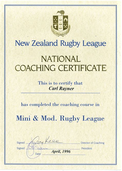 rugby league certificate templates best sles templates