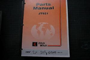 Ditch Witch Jt921 S Directional Drilling Machine Parts