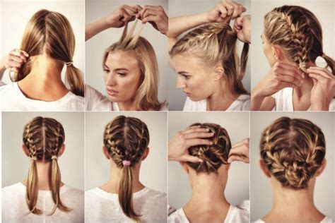 race day    double french braid womens running