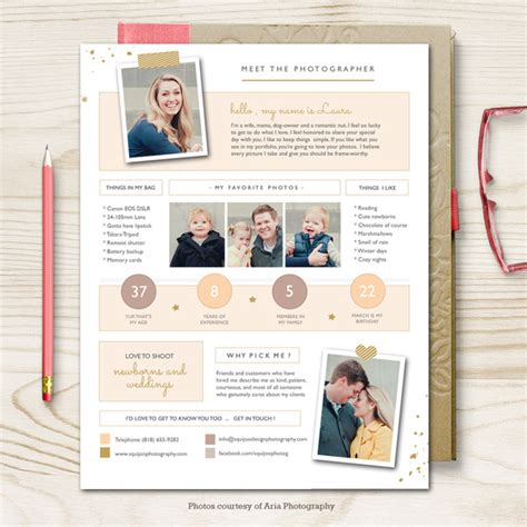 photography bio template eniva photographer bio template