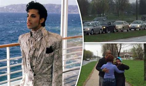 singer prince house prince dead devastated fans gather outside visionary musician s home to pay