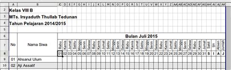 format absen seminar excel accounting