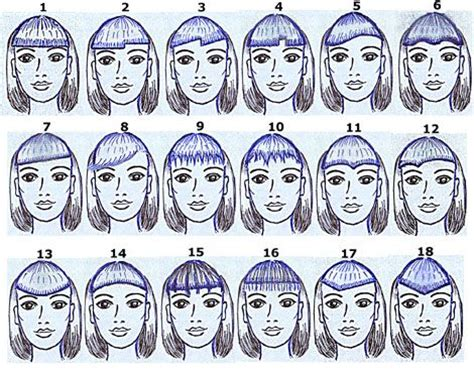 bangs styles names different types of bangs glam bistro hair pinterest