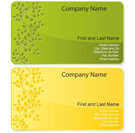 business card design template vector free free floral design business card template free vectors