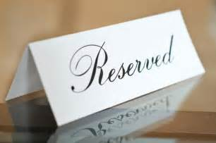 Table Reservation Card Template by 5 X 7 Printed Reserved Signs Wedding Reception Ceremony