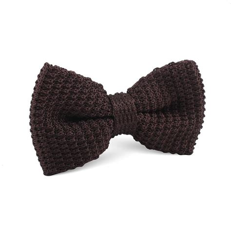 brown knitted bow tie knit bowties bowtie ties otaa
