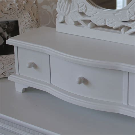 white dressing table mirror with drawers melody maison 174