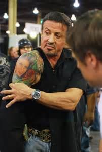 sylvester stallone tattoos