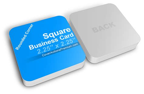 4 side free psd business card templates actions square business card mockup cover actions premium