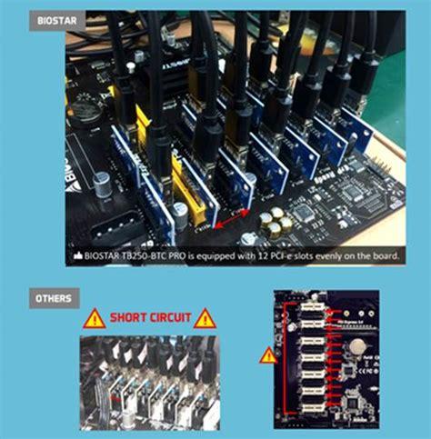 Biostar Tb 250 Btc Pro Bonus Riser Card 12pc 1 biostar announces the tb250 btc pro the 12 gpu ready crypto mining motherboard your supreme
