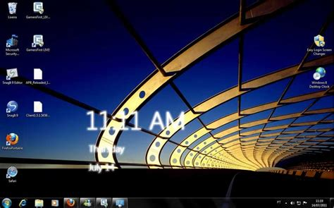 live clock themes software windows 8 desktop clock windows download