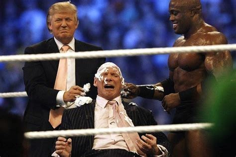 trumpmania vince mcmahon and the of america s 45th president books donald challenges vince mcmahon to match at