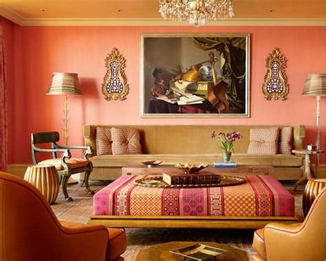 Bright Orange Room by 111 Bright And Colorful Living Room Design Ideas Digsdigs
