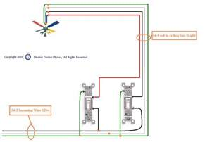 Installing Ceiling Fan Without Existing Wiring by Wiring Diagram For Ceiling Fan Without Light Diagram