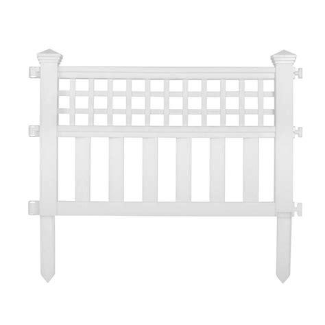 white garden fence panel resin   long patio