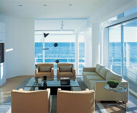 view interior of homes beachfront house in california