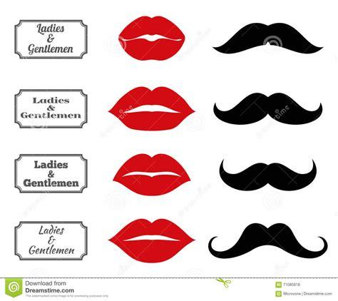 simboli bagno simboli bagno di signore e signori icone dei baffi