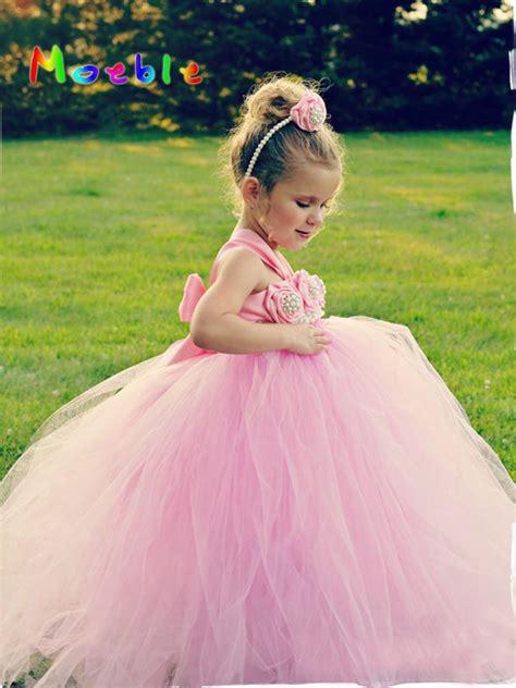 Wedding Dress Anak Tutu Blossom Merah flower tutu dresses wedding easter junior bridesmaid soft pink princess dress children