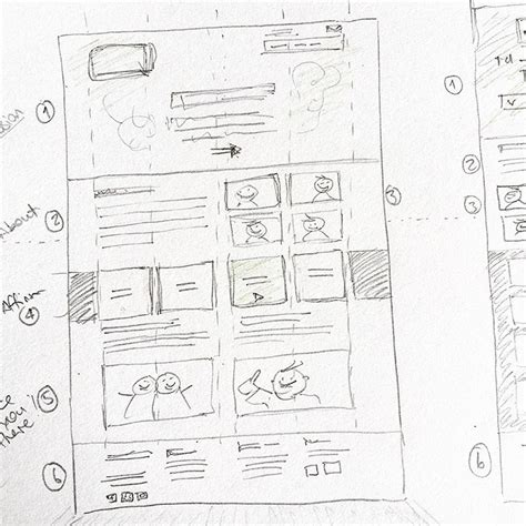 layout web sketch ui ux design sketches and wireframes from instagram